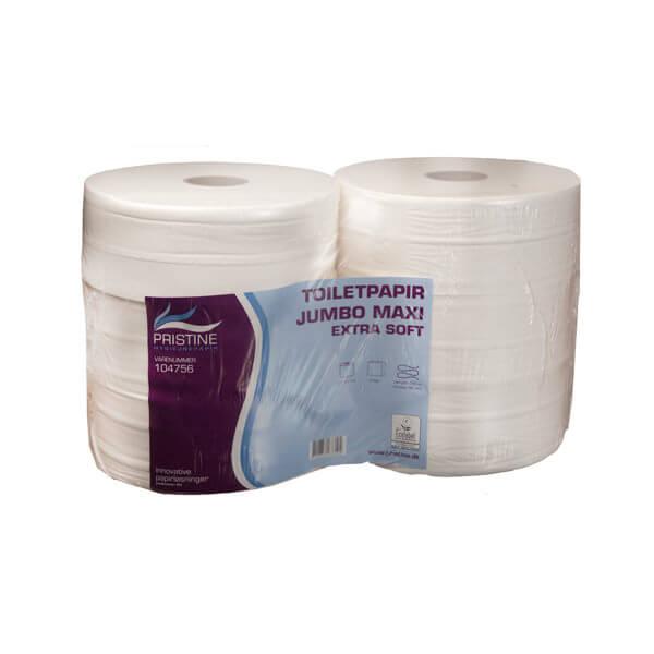 Pristine Jumbo Extra Soft, jumborulle 2-lag, 320 m, 6 ruller