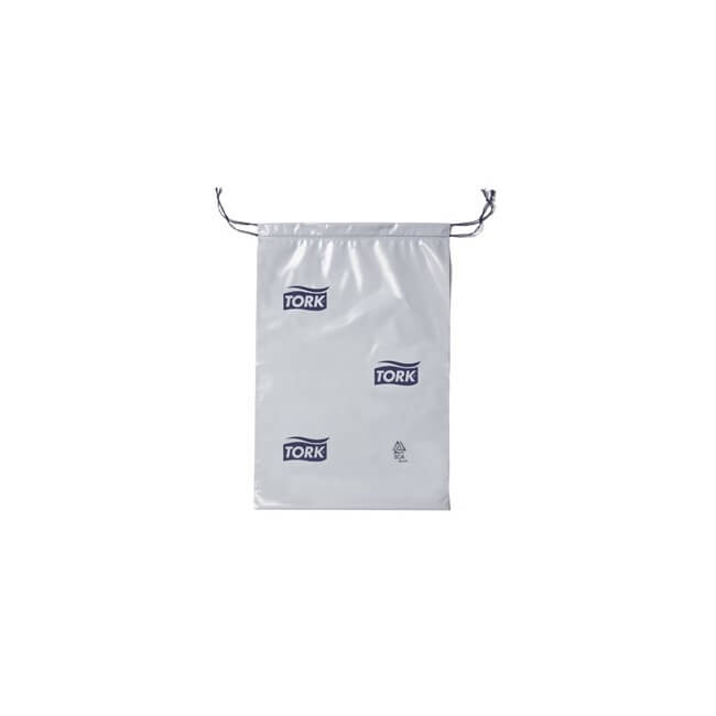 Tork hygiejnepose grå, 50 my med snorluk, 50 stk., 5 L