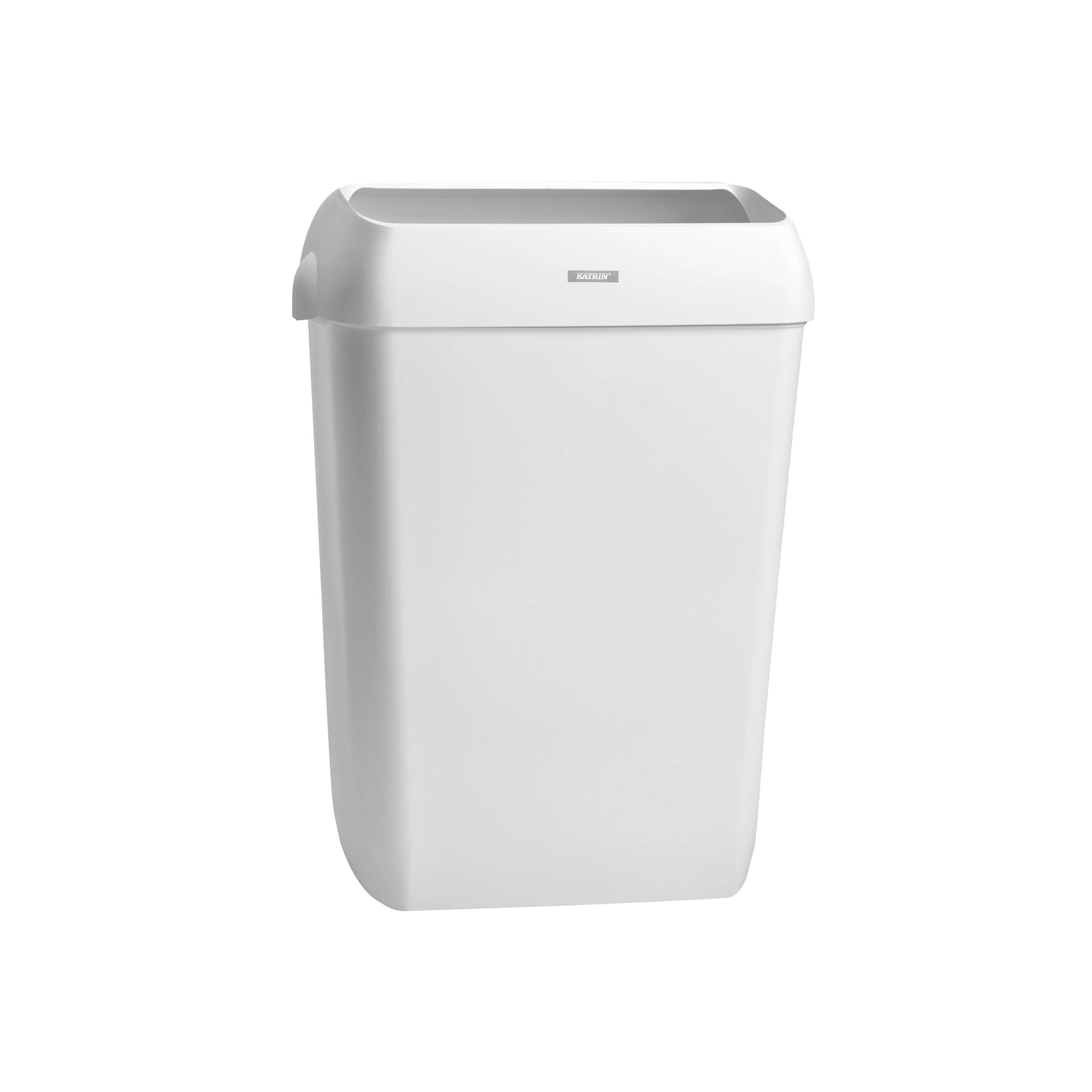Katrin Waste Bin, 25 L, papirkurv med låg, hvid