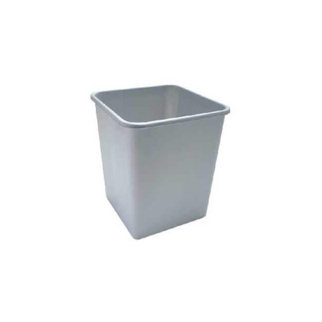Papirkurv grå, 33,5x32,5x38,2 cm., 25 L