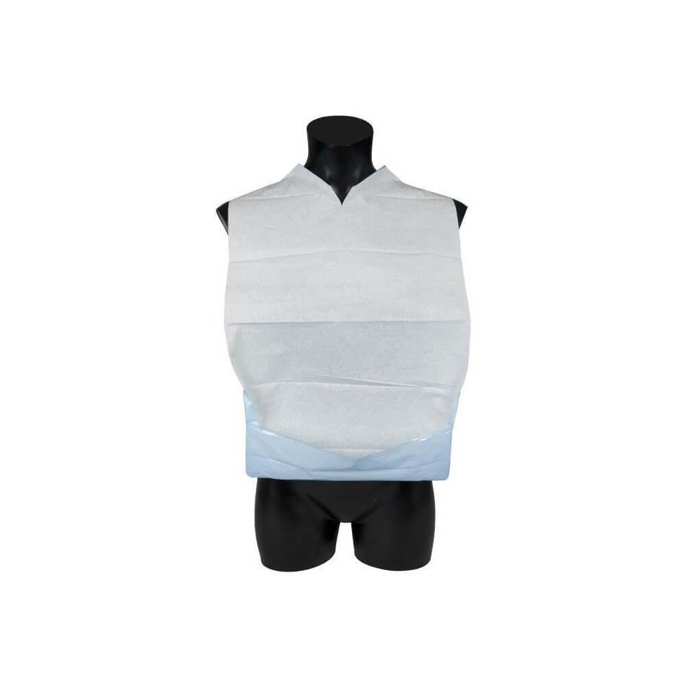 Image of   Abena, Spisestykke, hvid/blå, med vendbar lomme, 37x60 cm, 100 stk.
