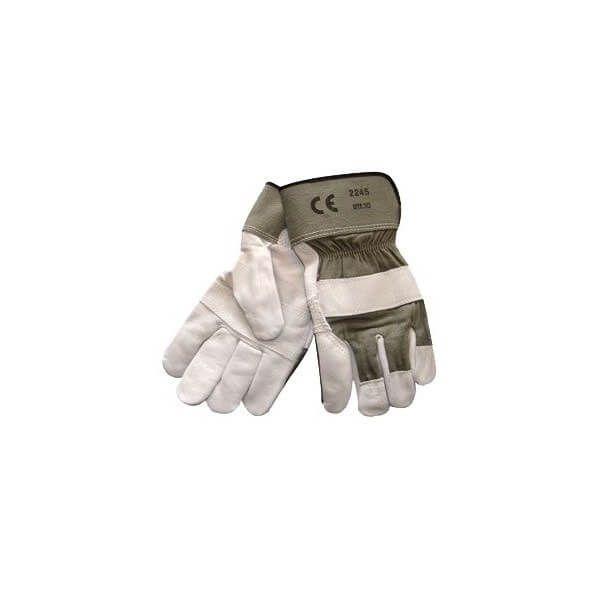 Oksehudshandske natur blød, slidstærk med kno| og negleforstærkning, samsyet håndflade | XX-large