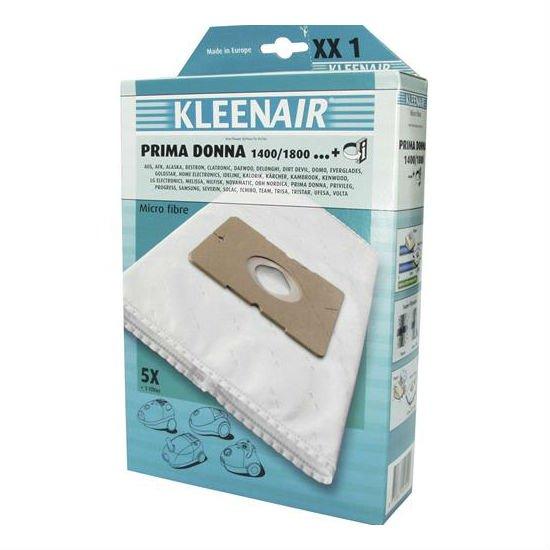 KLEENAIR XX1 universal støvsugerpose, 5 stk. + 1 filter